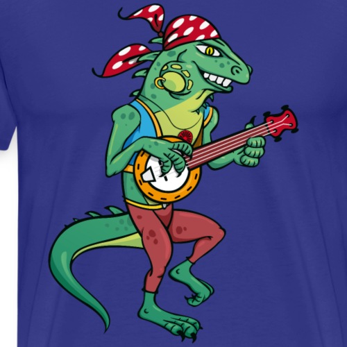 Tzigane iguane avec Banjo - T-shirt Premium Homme