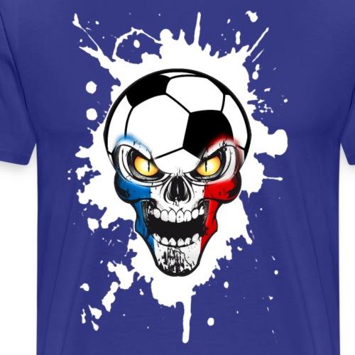 Football Skull France 01 - Men's Premium T-Shirt