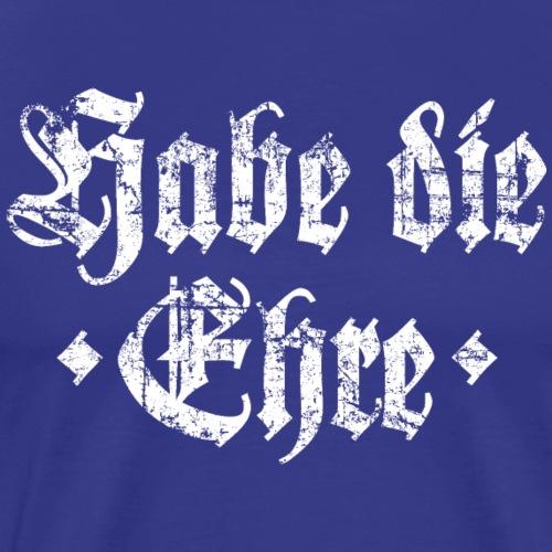 Habe die Ehre (Vintage Weiß) - Männer Premium T-Shirt