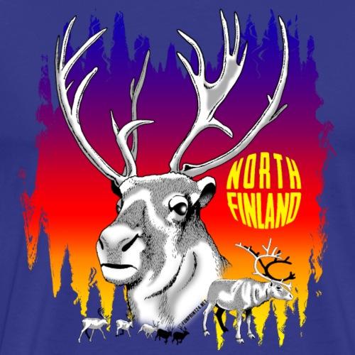 REINDEERS - POROT - FINLAND - LAPLAND GIFTS - Miesten premium t-paita