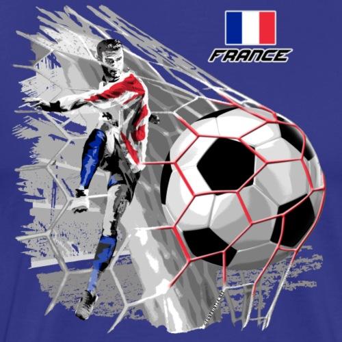 FRANCE FOOTBALL SOCCER PLAY T SHIRTS, GIFTS - Miesten premium t-paita