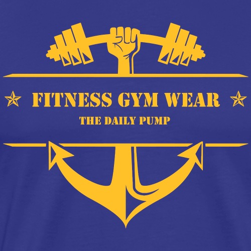 Fitness Gym Wear Logo Anker - Männer Premium T-Shirt