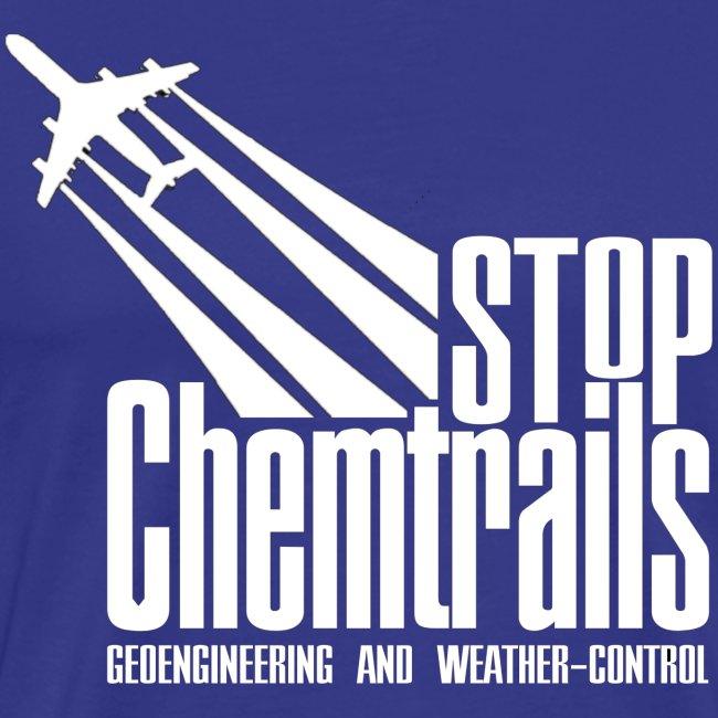 STOP CHEMTRAILS - white print