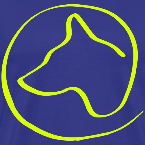 Hundekopf im Kreis - Männer Premium T-Shirt