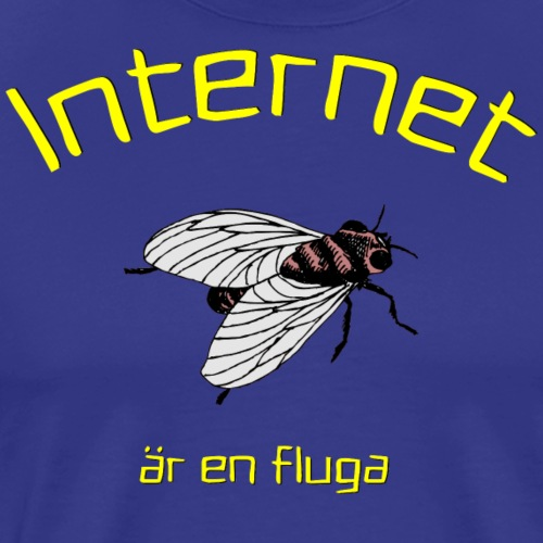 Internet är en fluga - Premium-T-shirt herr