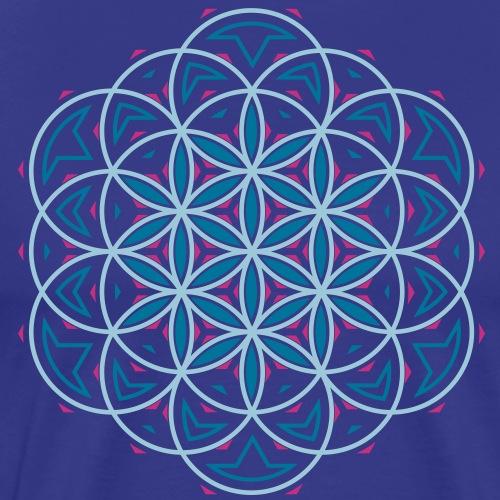 Flower 0f Life 3 - Mannen Premium T-shirt
