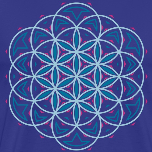 Blomst 0f Life 3 - Herre premium T-shirt