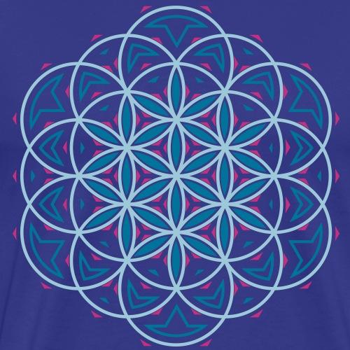 Blume des Lebens 3 - Männer Premium T-Shirt
