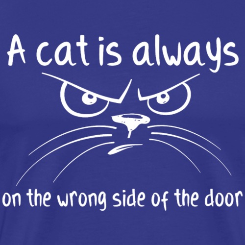 A cat is always on the wrong side of the door - Männer Premium T-Shirt