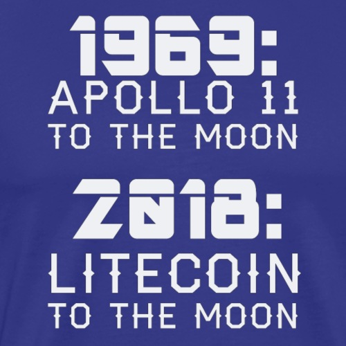 2018 Litecoin to the Moon - Männer Premium T-Shirt