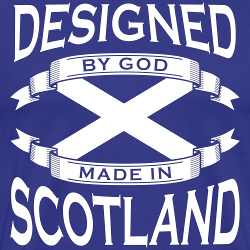 Designed by God - Scotland - Men's Premium T-Shirt