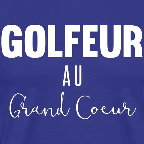 Golfeur au grand coeur - T-shirt Premium Homme