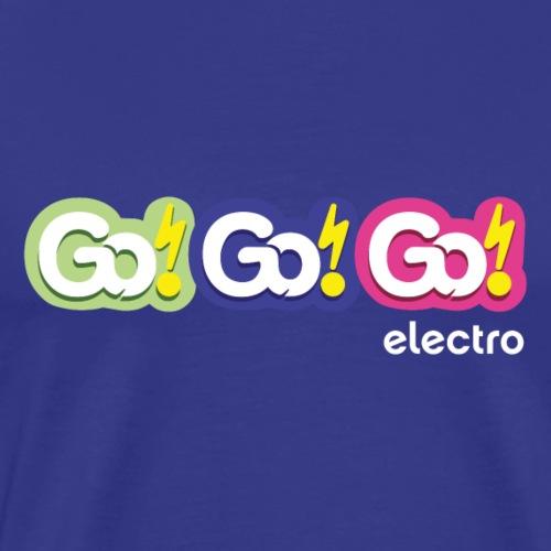 Go!Go!Go! Electro Logo - Men's Premium T-Shirt