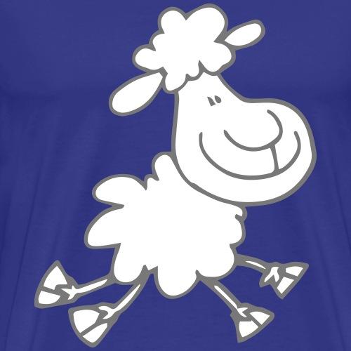 Gamboling Cartoon Sheep by Cheerful Madness!! - Men's Premium T-Shirt