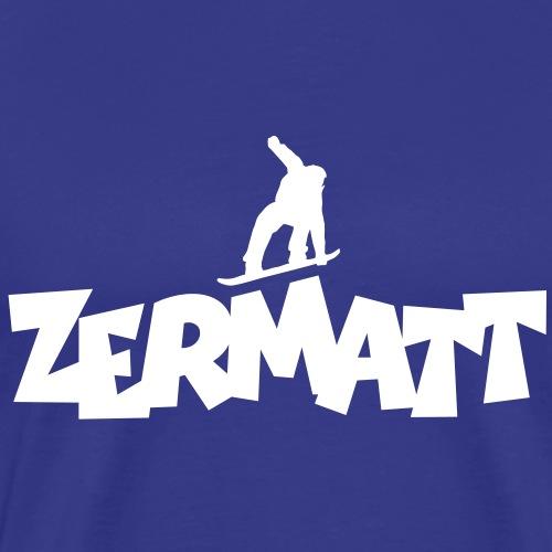 Zermatt Snowboarding Snowboarder - Männer Premium T-Shirt