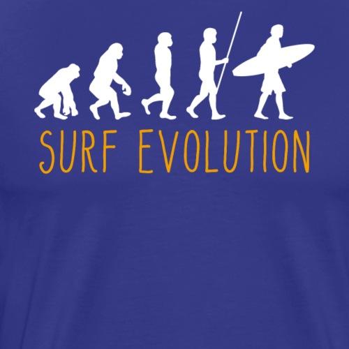 Evolution of Man Surfing - Männer Premium T-Shirt