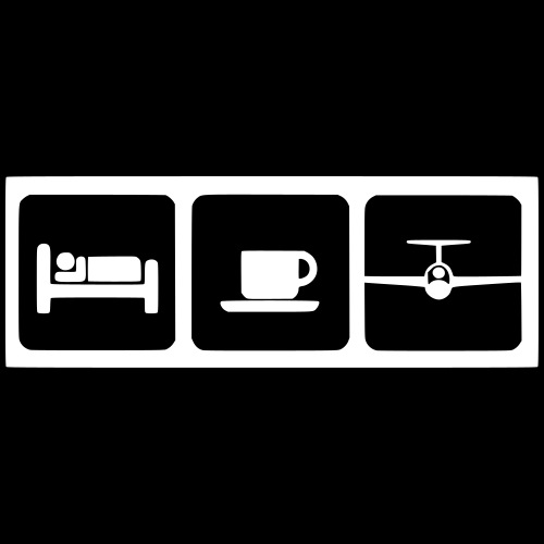 sleep coffee gliding - Männer Premium T-Shirt