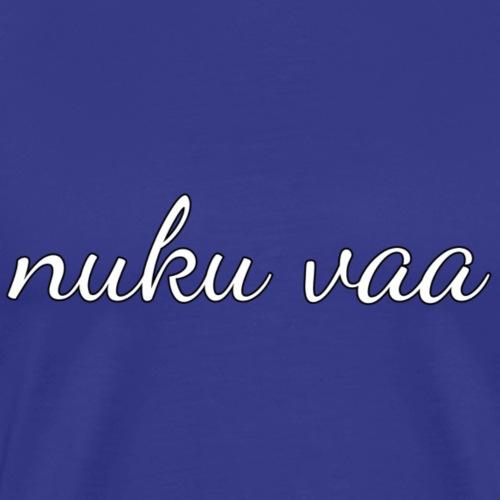 Nuku vaa - valkoinen - Miesten premium t-paita