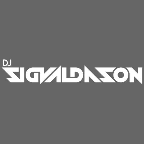 DJ logo hvid - Herre premium T-shirt