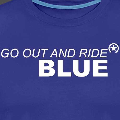 ride blue - Männer Premium T-Shirt