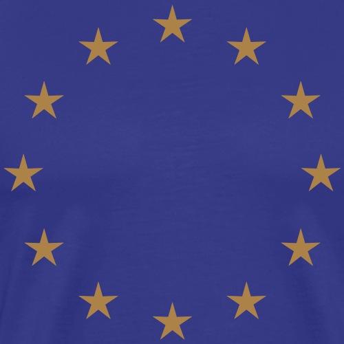 EU Sterne golden Europa Europäische Union Fahne - Männer Premium T-Shirt