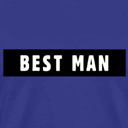 Best Man Trauzeuge Polter JGA Design - Männer Premium T-Shirt