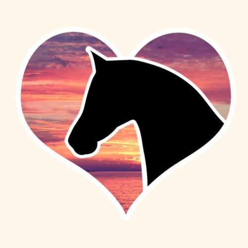 Pferd im Herz - Männer Premium T-Shirt