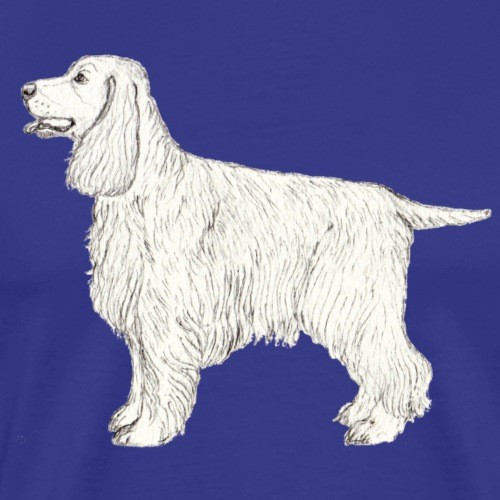 English Cocker spaniel - graphite - Herre premium T-shirt