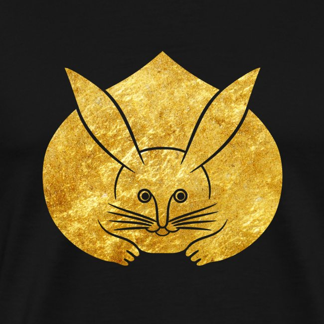 Usagi kamon japanese rabbit gold