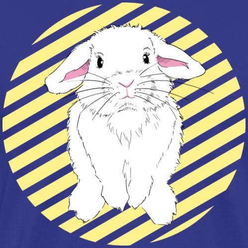 Neugieriger Hase mit Streifen - Männer Premium T-Shirt