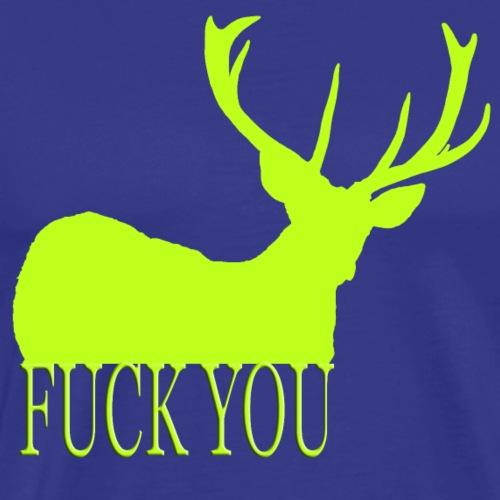 Fuck you giftgrün - Männer Premium T-Shirt