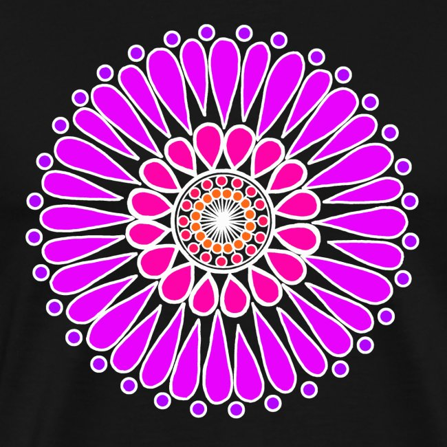 Purple Double Sunflower Mandala