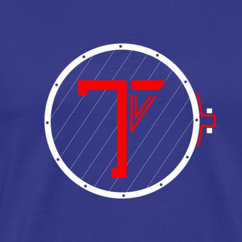 Trommekorps TV Logo White - Herre premium T-shirt