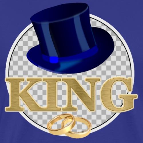 KING mit Hut - Männer Premium T-Shirt