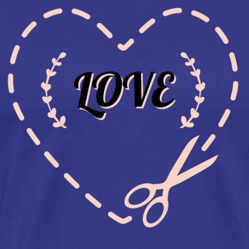 Ausgeschnitenes Herz - Männer Premium T-Shirt