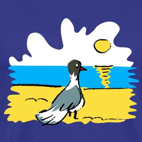Möwe am Strand - Männer Premium T-Shirt
