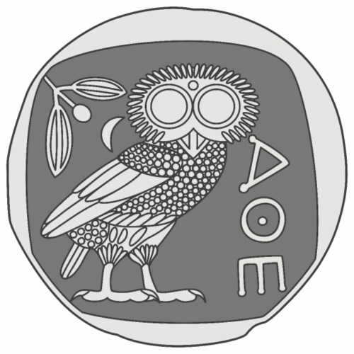 Owl of Athena [Coin] - Men's Premium T-Shirt
