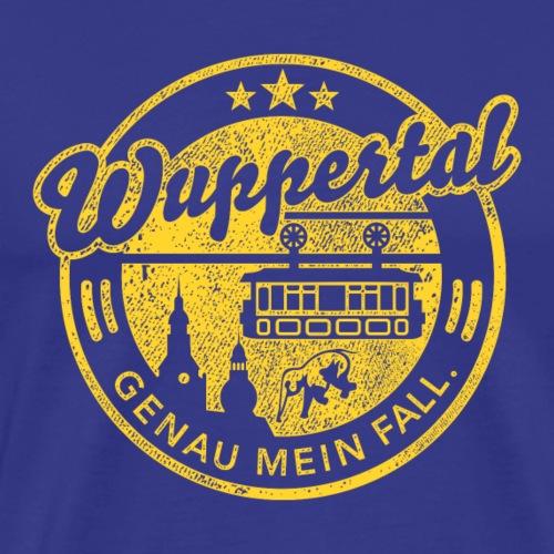 Wuppertal - genau mein Fall, distressed - Männer Premium T-Shirt