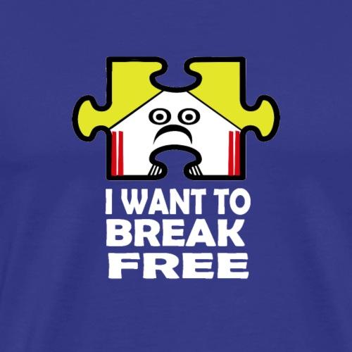Freddie the Jigsaw Piece - Men's Premium T-Shirt