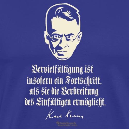 Karl Kraus über Einfalt | spassprediger - Männer Premium T-Shirt