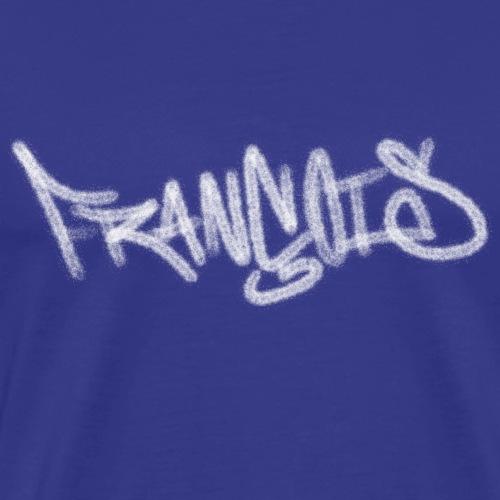 Graffiti Prenom François Blanc - T-shirt Premium Homme