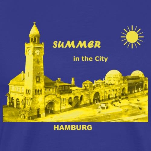 Summer Hamburg City Landungsbrücken Sonne Sommer - Männer Premium T-Shirt