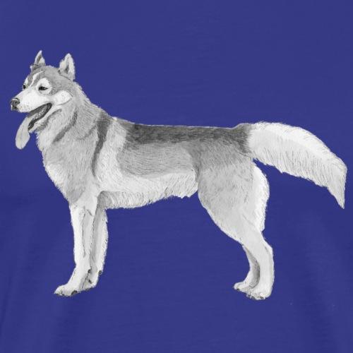 Siberian Husky ink - Herre premium T-shirt