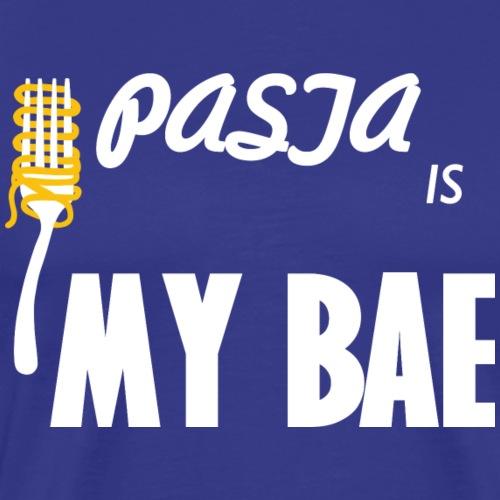Pastaskjorta Pasta är min Bae - Premium-T-shirt herr