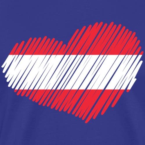 coeur autriche drapeau - T-shirt Premium Homme