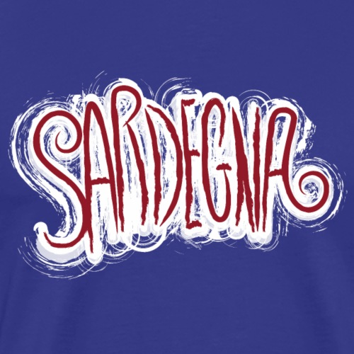 Sardegna Calligrafica Paint - Maglietta Premium da uomo