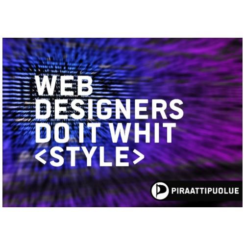Web designers do it whit - Miesten premium t-paita