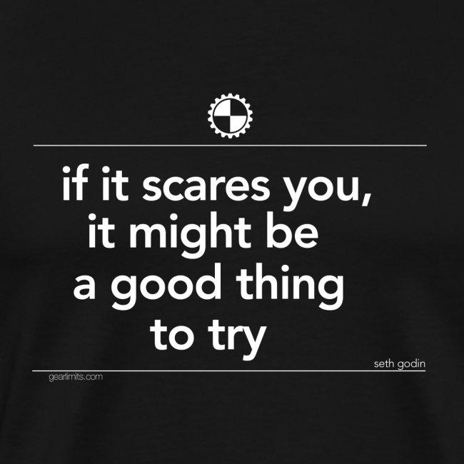if it scares you Seth Godin white