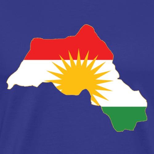Kurdistan Flag Map - Männer Premium T-Shirt