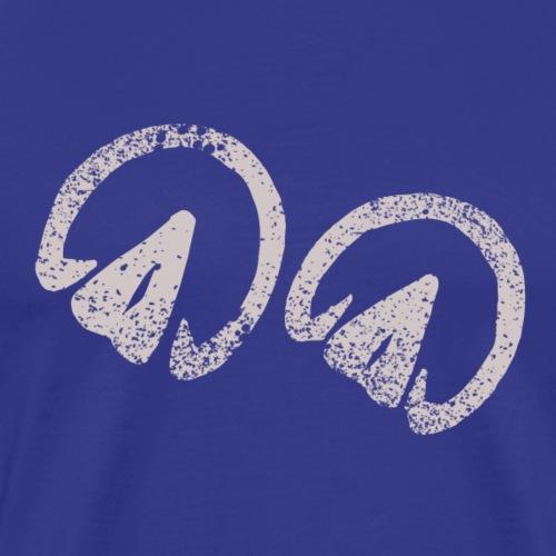 Barhuf chevaux Empreintes de sabots Drôles d'idée cadeau - T-shirt Premium Homme